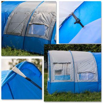 Familienzelt / Zelt 6-Personen 480x365x215cm blau-weiß Paradiso – Bild $_i