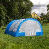 Familienzelt / Zelt 6-Personen 480x365x215cm blau-weiß Paradiso