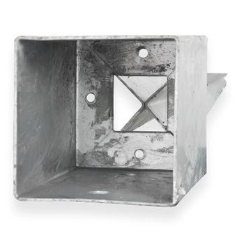 Pfostenträger Einschlagbodenhülse eckig 101x101x750mm feuerverzinkt – Bild $_i
