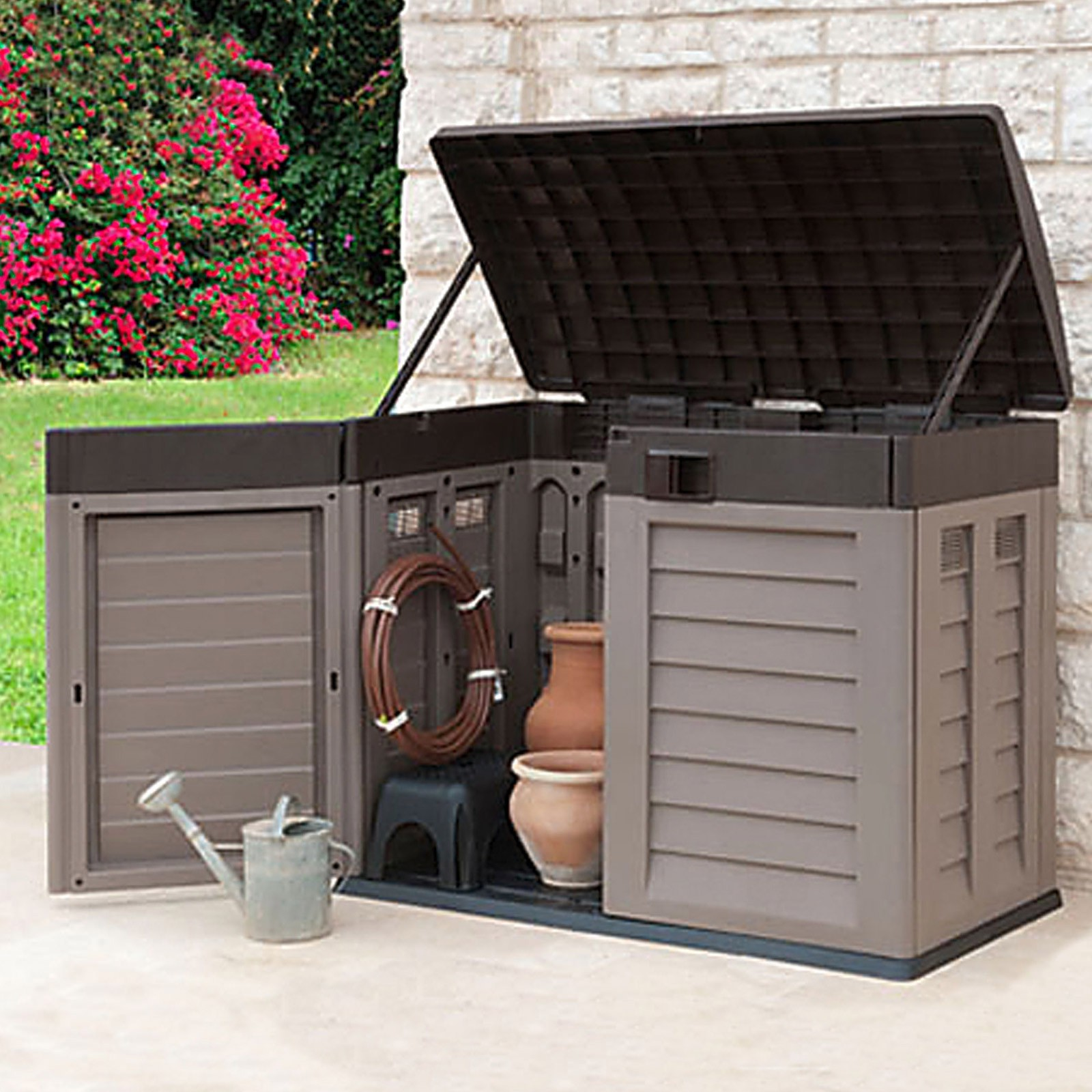 Bekannt Garten Geräte Aufbewahrungsbox / Mülltonnenbox 2 x 240 = 480 Liter ZE39