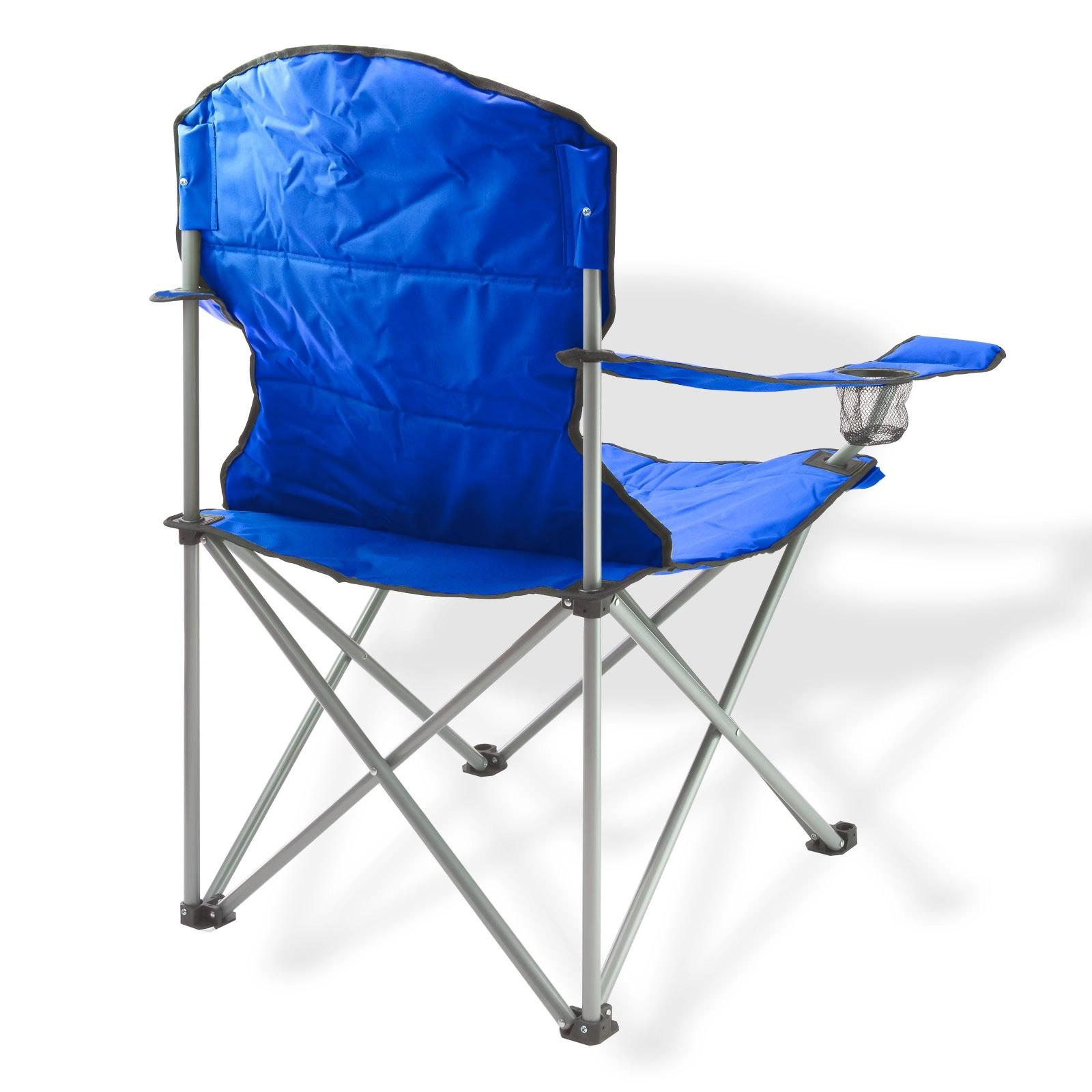 Dema Campingstuhl / Faltstuhl Set blau und grün Getränkehalter Tasche 94038-94037