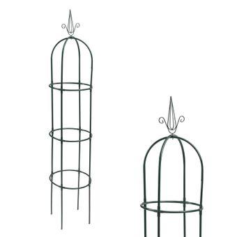 2er Set Metall Rankhilfe / Rosensäule Obelisk XXL – Bild $_i