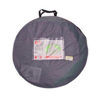 Strandmuschel Pop Up Strandzelt Sonnenschutz Windschutz grün/grau – Bild $_i