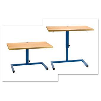 Werkbank / Werktisch höhenverstellbar 120x68 cm blau – Bild $_i