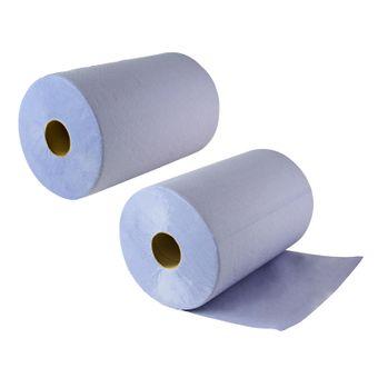 2 Putzrollen / Papier Putztücher 3-lagig je 500 Abrisse 36,5x35 cm – Bild $_i