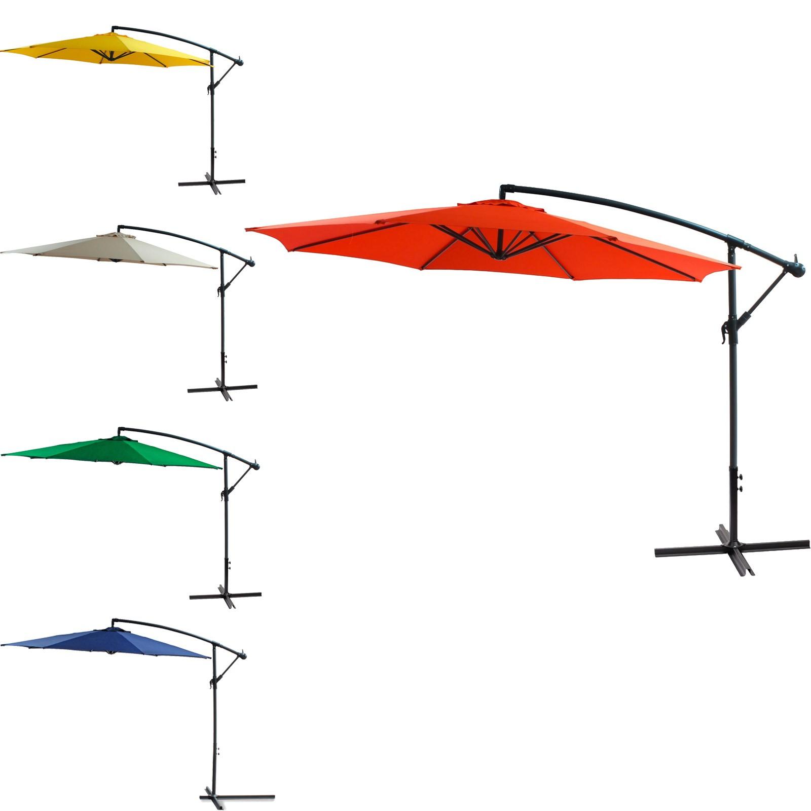 ampelschirm sonnenschirm gartenschirm schirm 3 meter verschiedene farben ebay. Black Bedroom Furniture Sets. Home Design Ideas