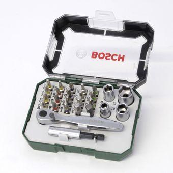 Bosch Bit-Set 26-tlg. mit Mini-Ratsche in Box – Bild $_i