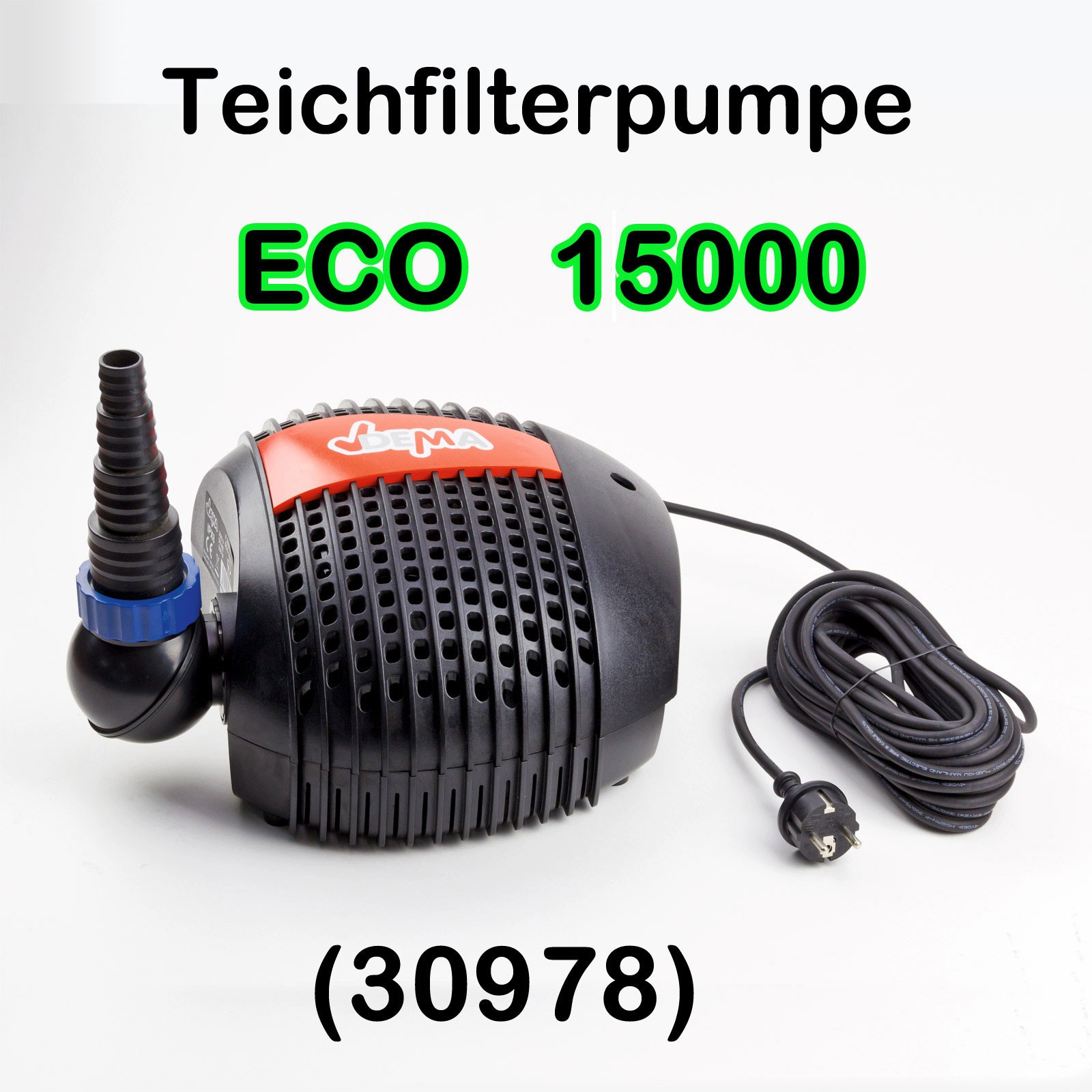 teichfilterpumpe teichpumpe eco 4600 15000 ltr h grobfilter bachlaufpumpe ebay. Black Bedroom Furniture Sets. Home Design Ideas