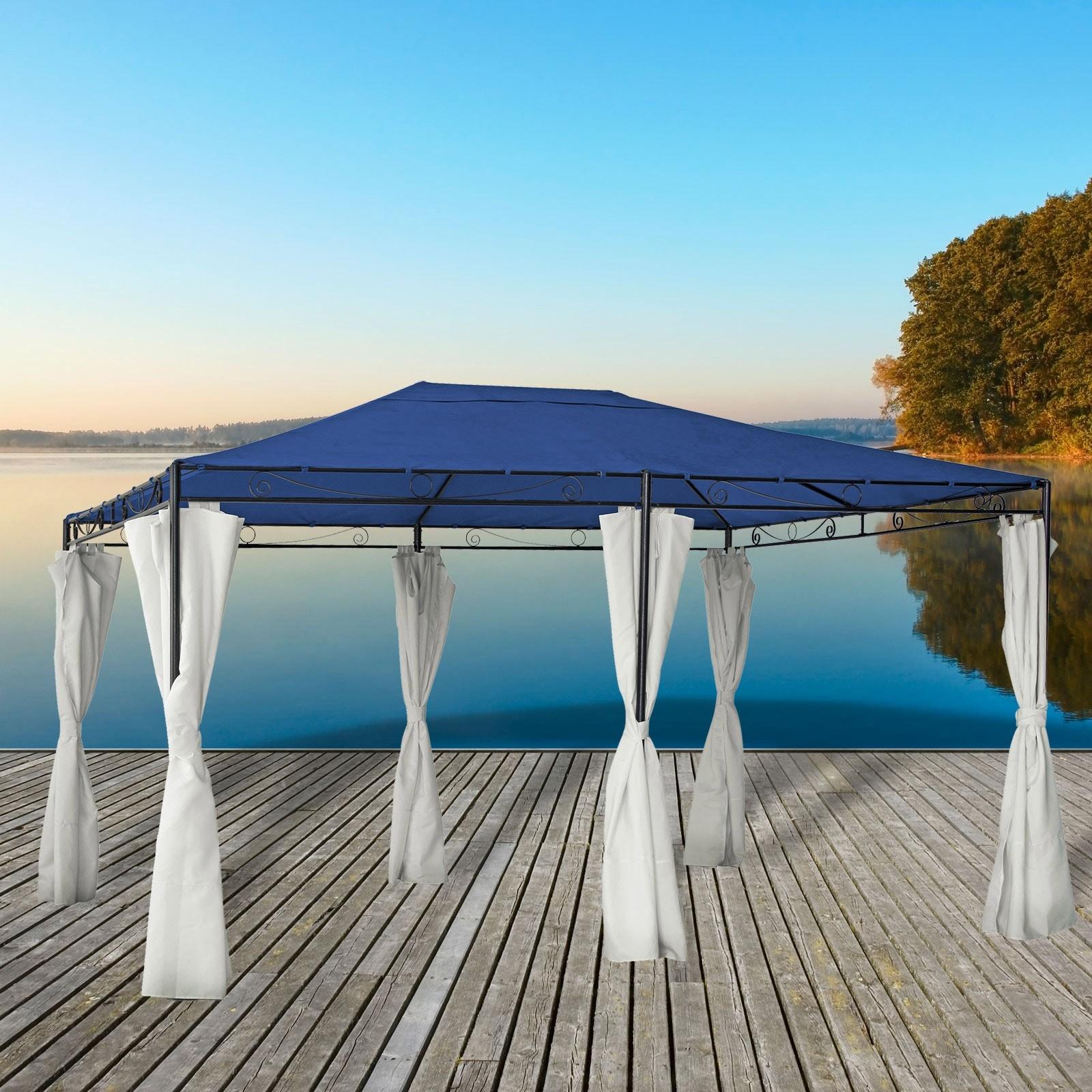 Dema Pavillon Gartenpavillon Monaco 3x4m Gartenzelt Metallpavillon Garten Partyzelt 14250