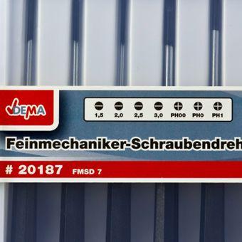 Feinmechaniker Schraubendreher / Schraubenzieher Satz 7tlg. – Bild $_i