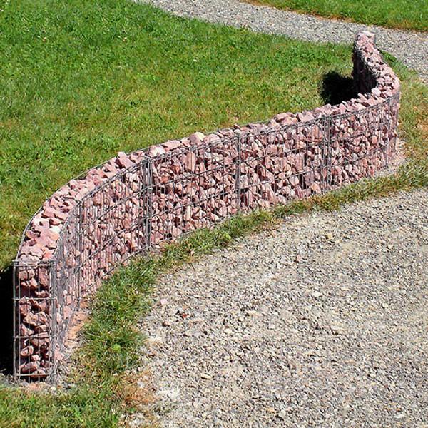 bellissa Gabionen Mauer 232x40cm erweiterbar formbar Steinmauer 95550