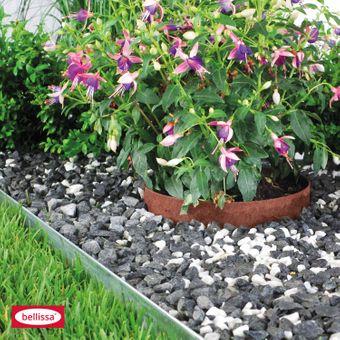bellissa Rasenkante Metall verzinkt 118x13cm biegsam Gartenbeet Gartendeko Beet – Bild $_i