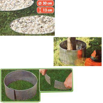 bellissa Rasenkante Garten verzinkt Kreis 30x13cm Schutz Gartendeko – Bild $_i