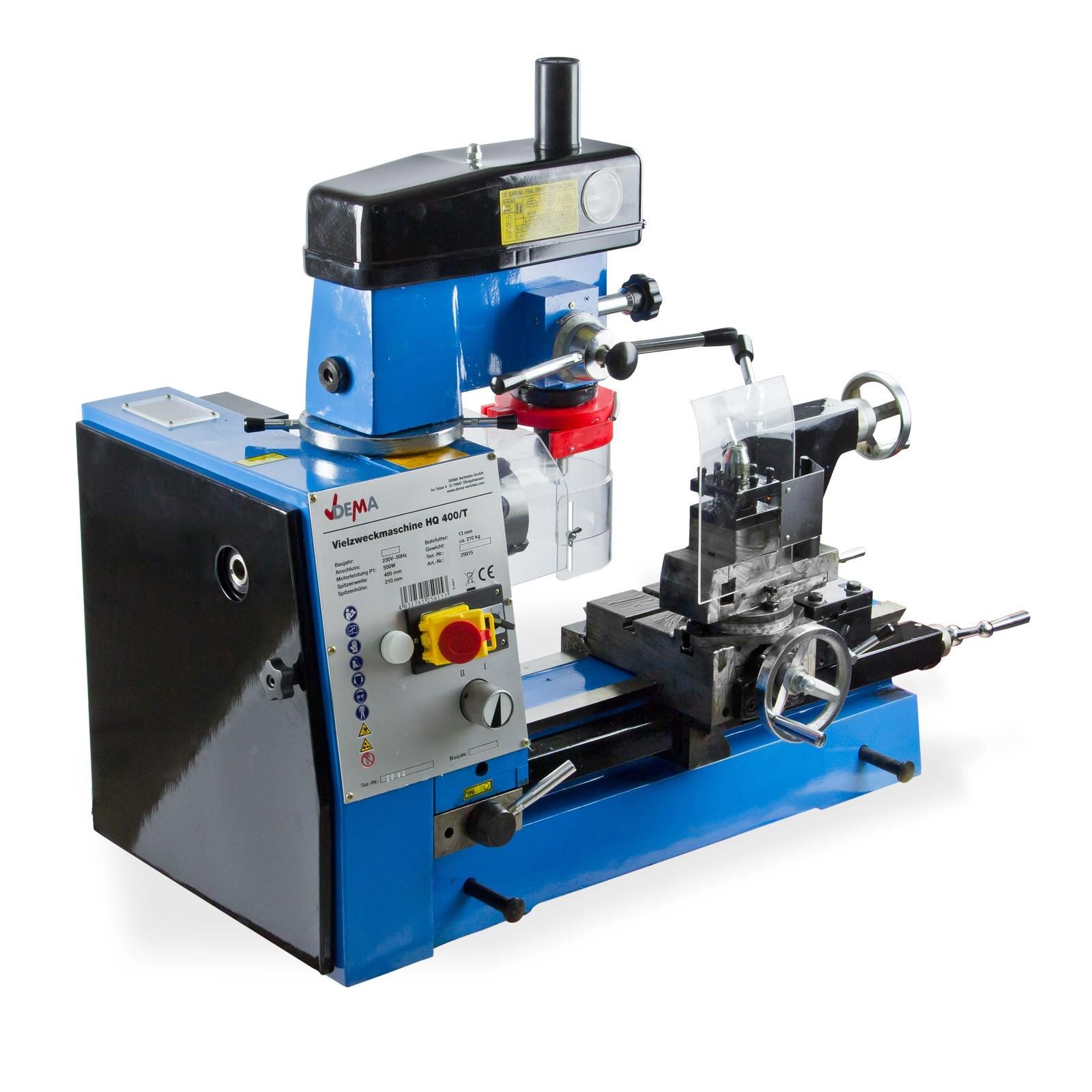 Dema Drehmaschine / Bohrmaschine / Fräsmaschine HQ400/T 25015