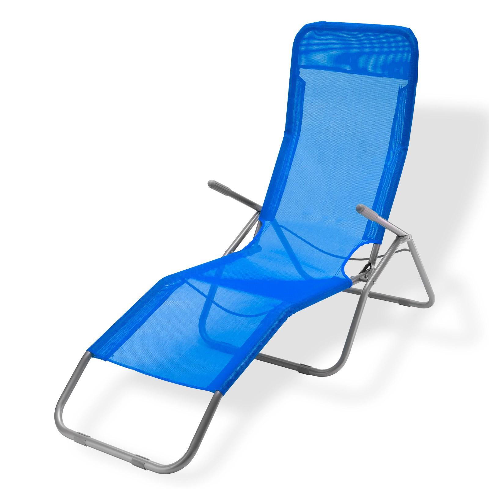 Dema Sonnenliege / Gartenliege Virginia Beach blau Relaxliege 94067