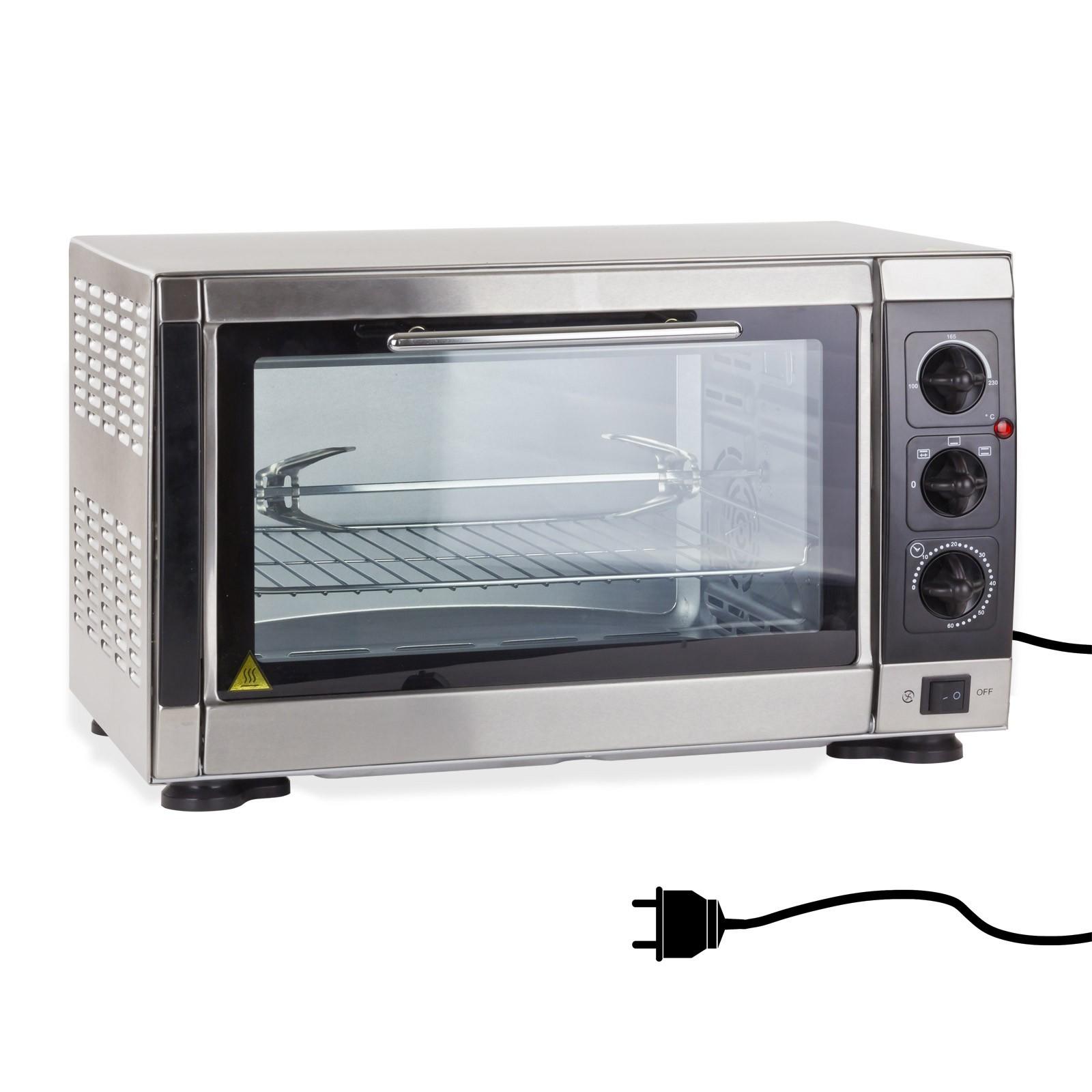 Dema Umluftofen Backofen Ofen Heißluftofen Minibackofen DUO33X+ 61096