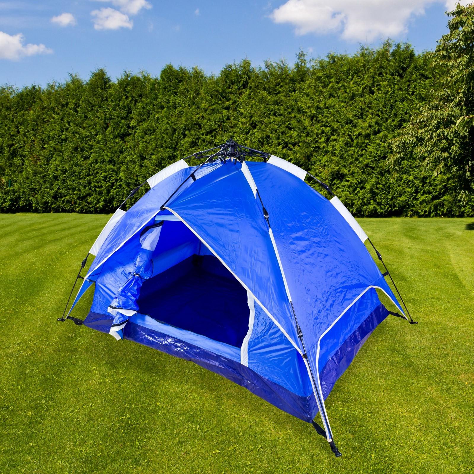 Dema Trekkingzelt Campingzelt Zelt Igluzelt Kuppelzelt für 2 Personen Tatra Blau 43243