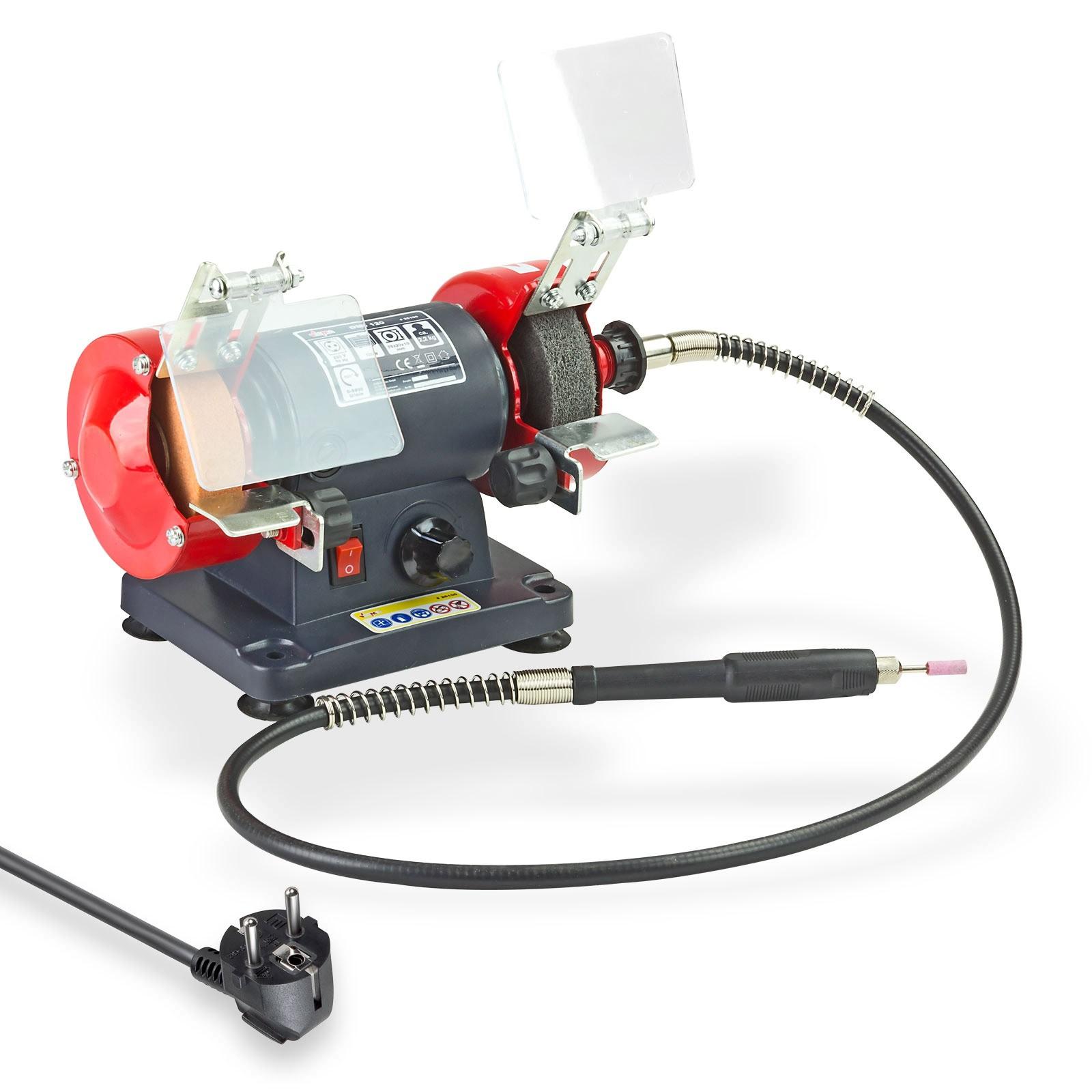 Dema Mini Doppelschleifer mit flexibler Welle DMD120 Schleifmaschine Schleifer 25100