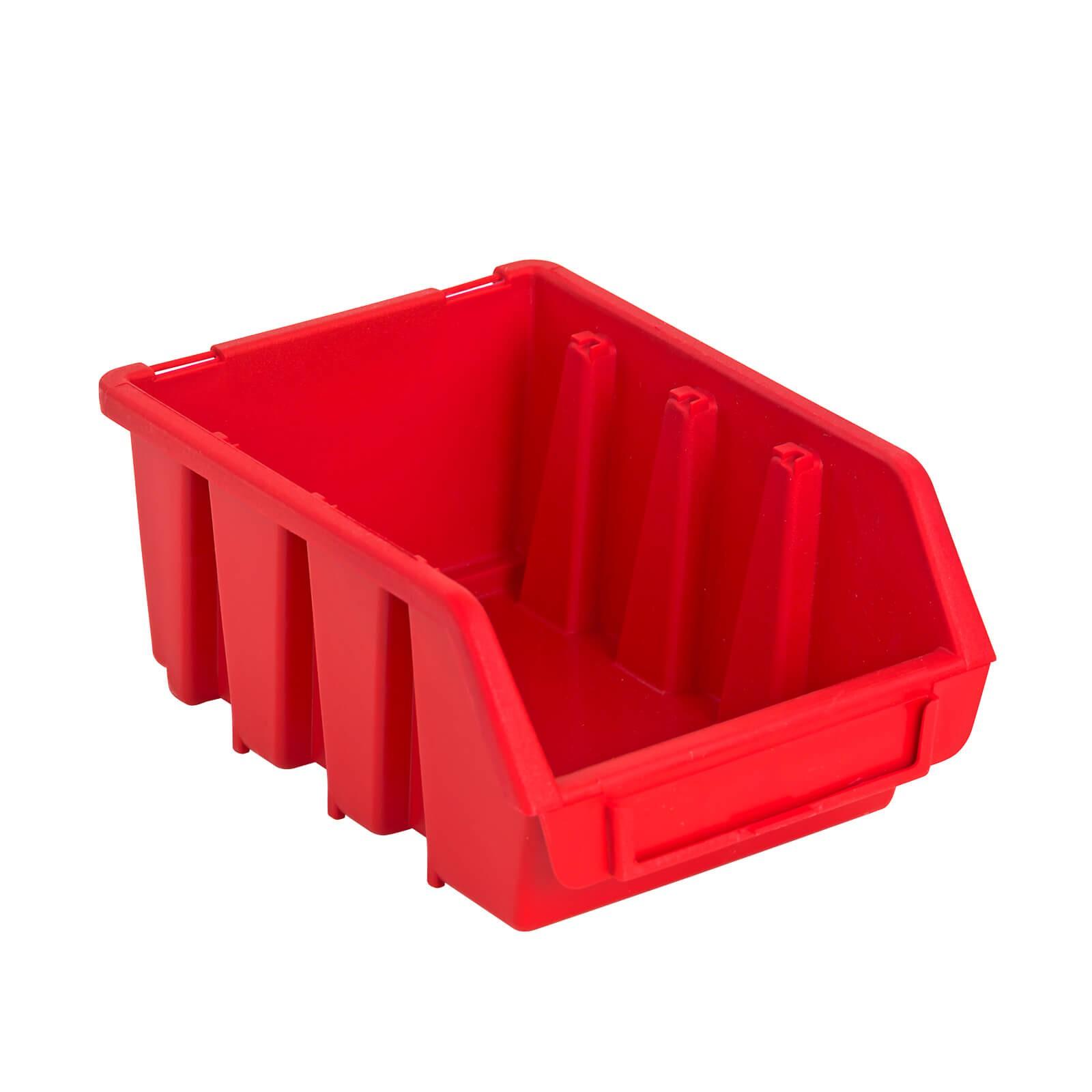 ADB Sichtlagerkasten Stapelbox Lagerbox Sichtbox Größe 2 Box rot 116x161x75 mm