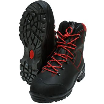 KWF Forst Schnittschutz-Stiefel Leder Oregon WAIPOUA Class1 + S2 EN ISO