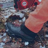 KWF Forst Schnittschutz-Stiefel Leder WAIPOUA Class1 + S2 EN ISO