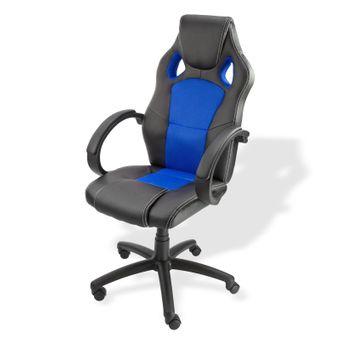 Bürostuhl / Schreibtischstuhl Clermont schwarz - blau