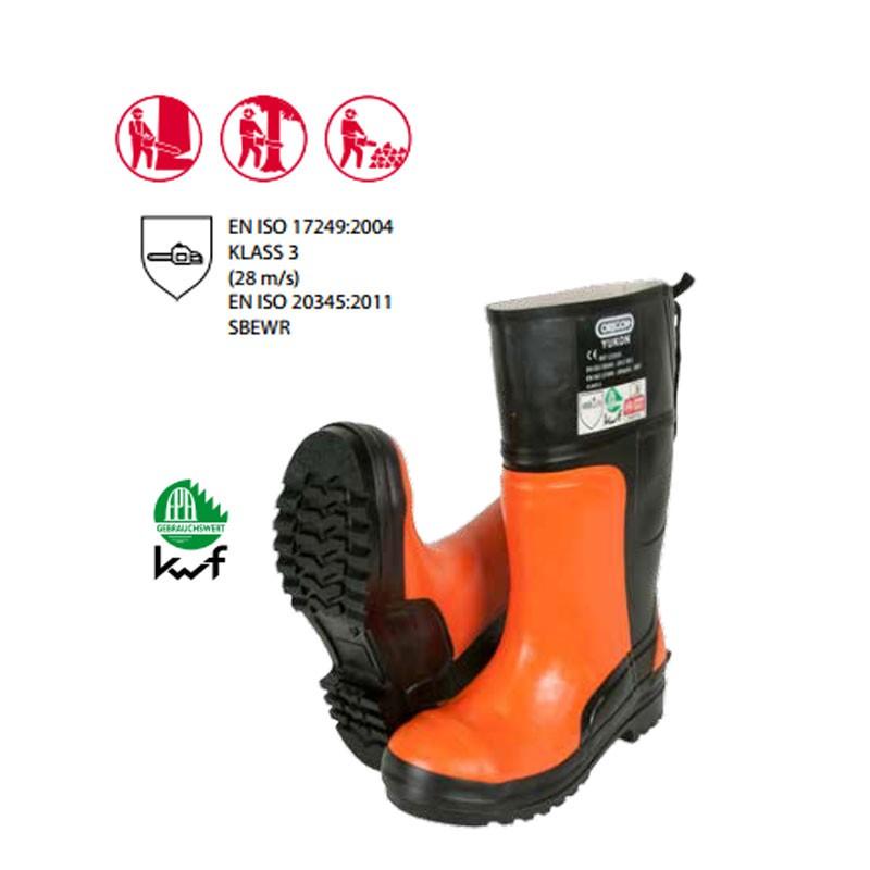 Klasse 1 Gr 45 Schnittschutzstiefel Stiefel Sicherheitsstiefel OREGON YUKON
