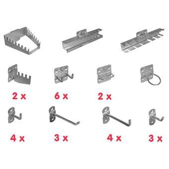 Güde Werkzeughalter / Hakenset Sortiment 28 tlg. für Lochwand