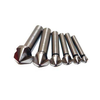 HSS Senker Satz 6,3 bis 20,5 mm 6-teilig Kegelsenker Entgrater Metall – Bild $_i