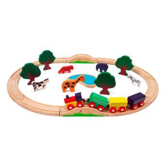 Kinder Holzeisenbahn Afrika 24-tlg Set – Bild $_i