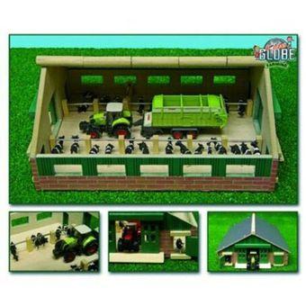 Kids Globe Spielzeug Bauernhof Kuhstall 21x30x11 cm Dach klappbar