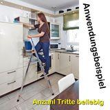 Krause Monto Alu Stufen-Stehleiter SOLIDY 1x 3 Tritte DIN EN 131