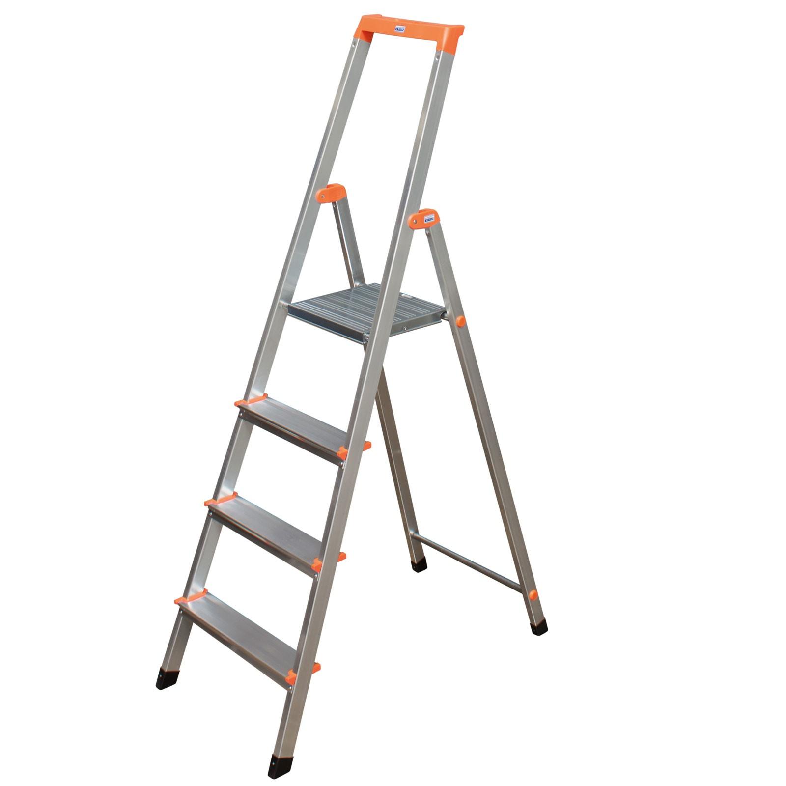 Leiter Aluleiter Alu Haushaltsleite Stufenleiter 3 Stufen Versand Kostenlos !