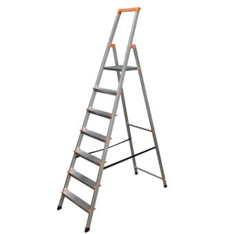 Krause Monto Alu Stufen-Stehleiter SOLIDY bis 150kg DIN EN131 Aluleiter – Bild $_i