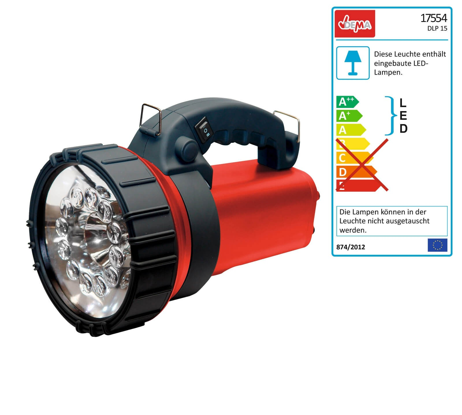 Dema LED Lampe / Campinglampe 15000MCD 17554