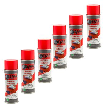 Etikettenlöser / Etikettenentferner PRO 6x 400 ml SET Spray