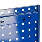 2x Lochblech / Werkzeug Lochwand 98,7 x 45,6 cm Stahlblech blau