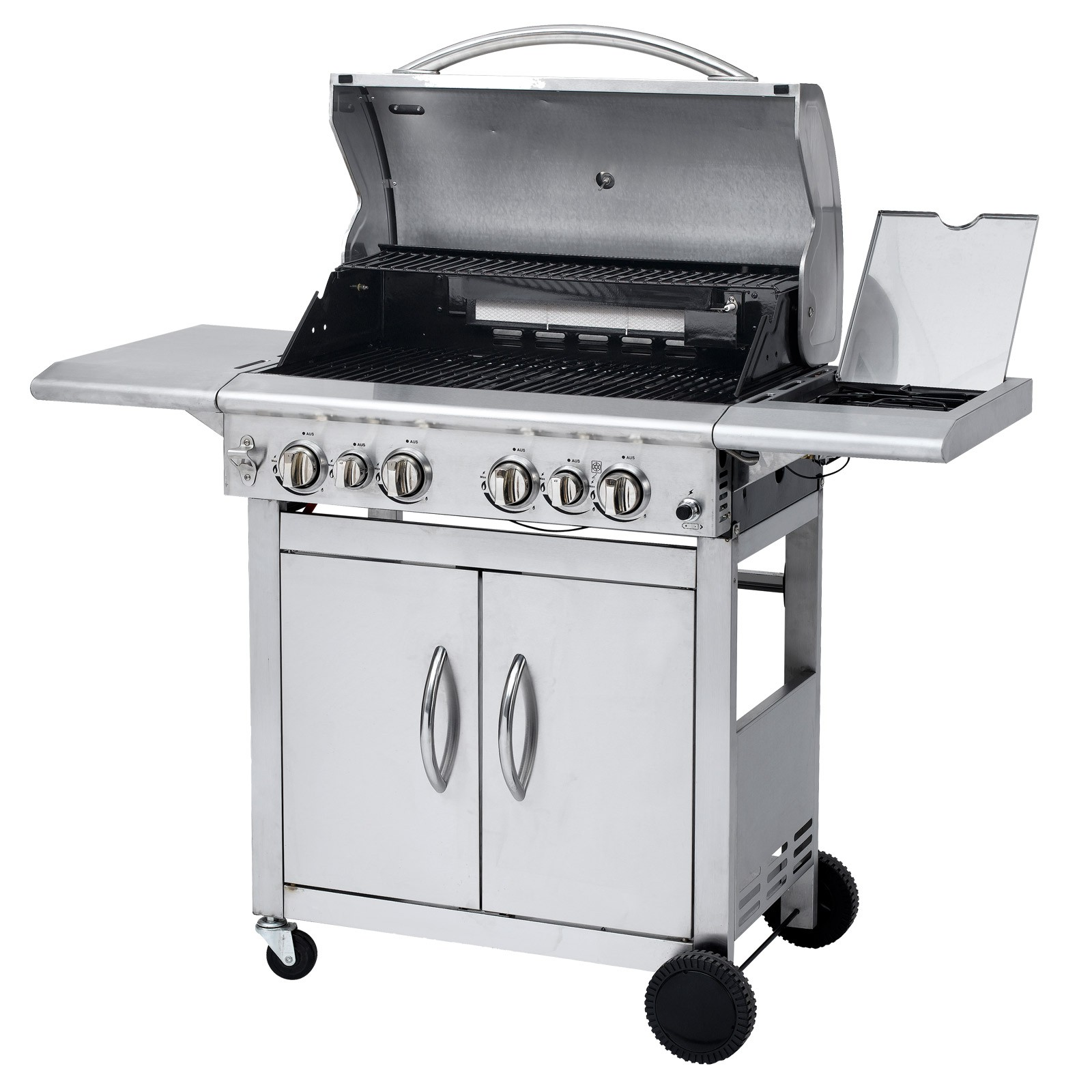 tepro gasgrill grillwagen bbq grill barbecue keansburg partygrill silber ebay. Black Bedroom Furniture Sets. Home Design Ideas
