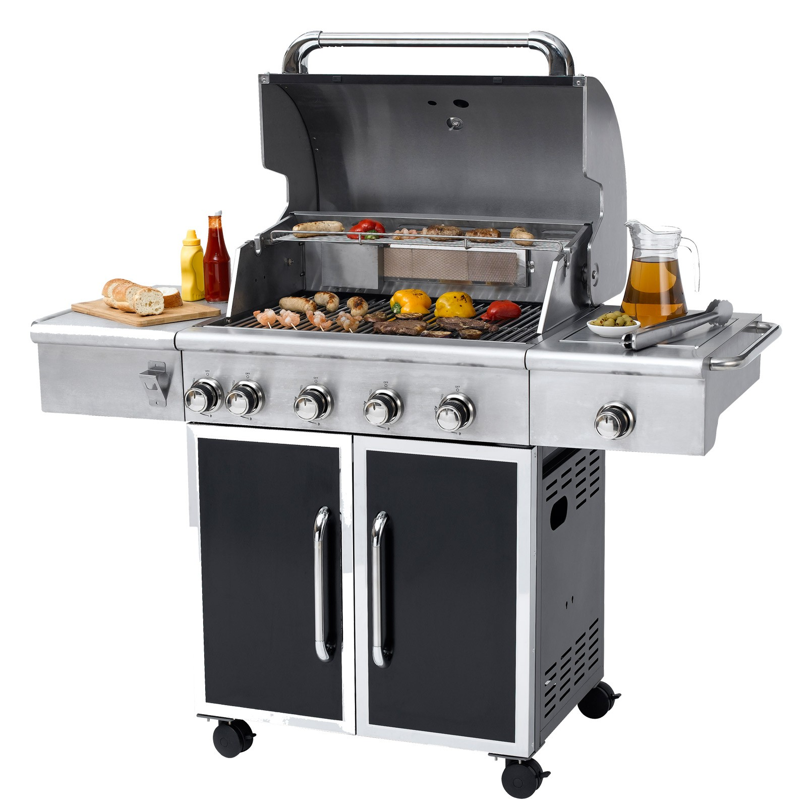 tepro gasgrill grillwagen bbq grill partygrill barbecue manhattan ebay. Black Bedroom Furniture Sets. Home Design Ideas