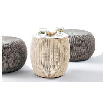 Keter Sitzgruppe Garten Cozy Urban Set Polyrattan creme/taupe – Bild $_i