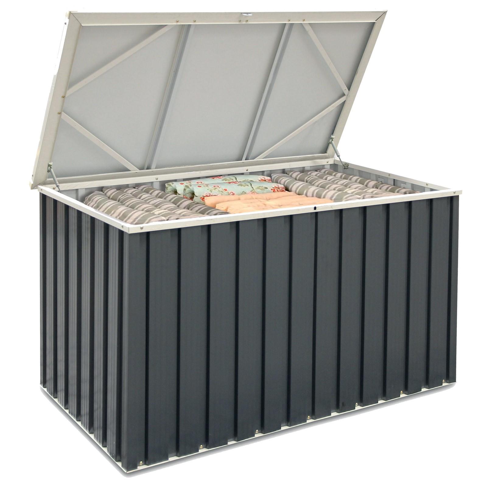 Tepro Keter Metall-Gerätebox Auflagenbox Kissenbox Gartenbox Aufbewahrungskiste 135x70 7422