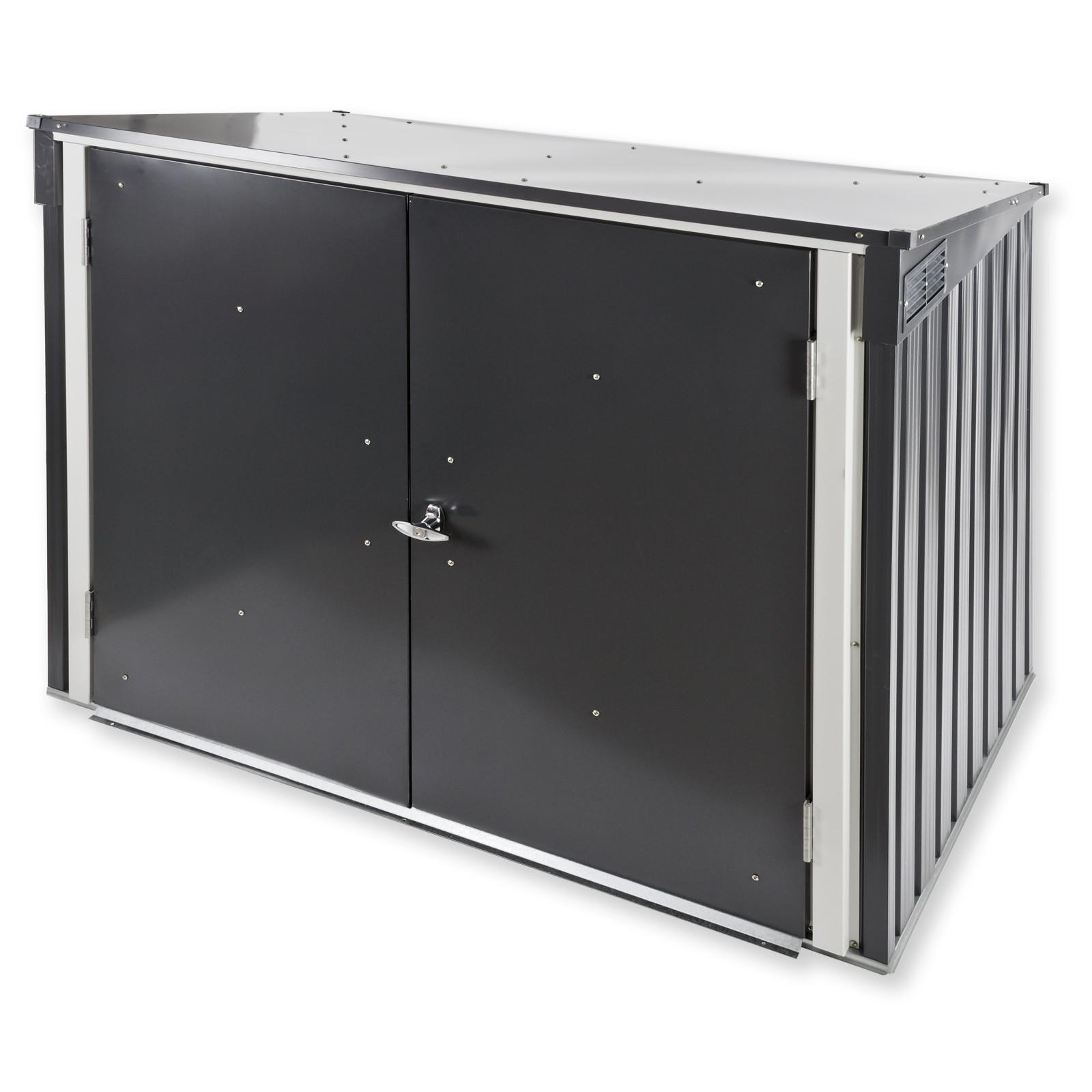 Dema Tepro Metall Mülltonnenbox Gartenbox Müllbox Aufbewahrungsbox 10048