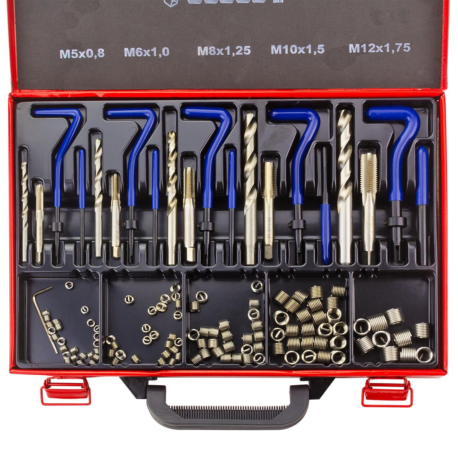25-tlg Gewindereparatursatz Gewindereparatur-Einsatzsatz Kompatibler Handwerkzeugsatz f/ür die automatische Reparatur von M6 x 1,0 x 8,0 mm