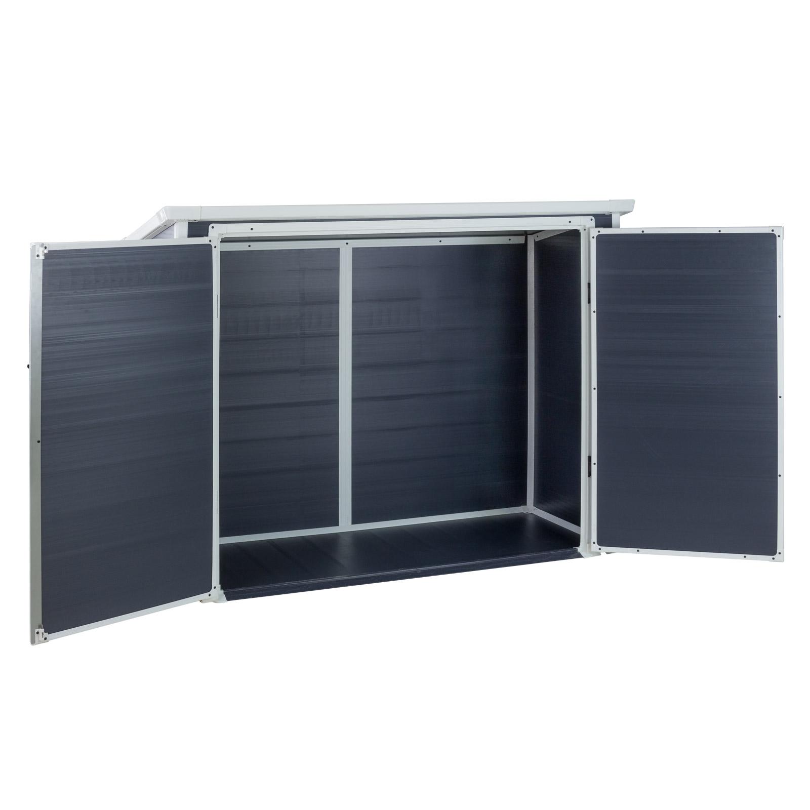 kunststoff aufbewahrungsbox universalbox m lltonnenbox ger teschuppen ger tehaus ebay. Black Bedroom Furniture Sets. Home Design Ideas