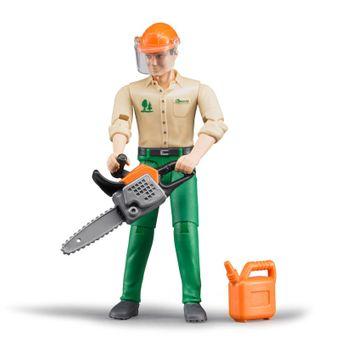 Bruder Forstarbeiter mit Zubehör aus der Bworld Serie  – Bild $_i