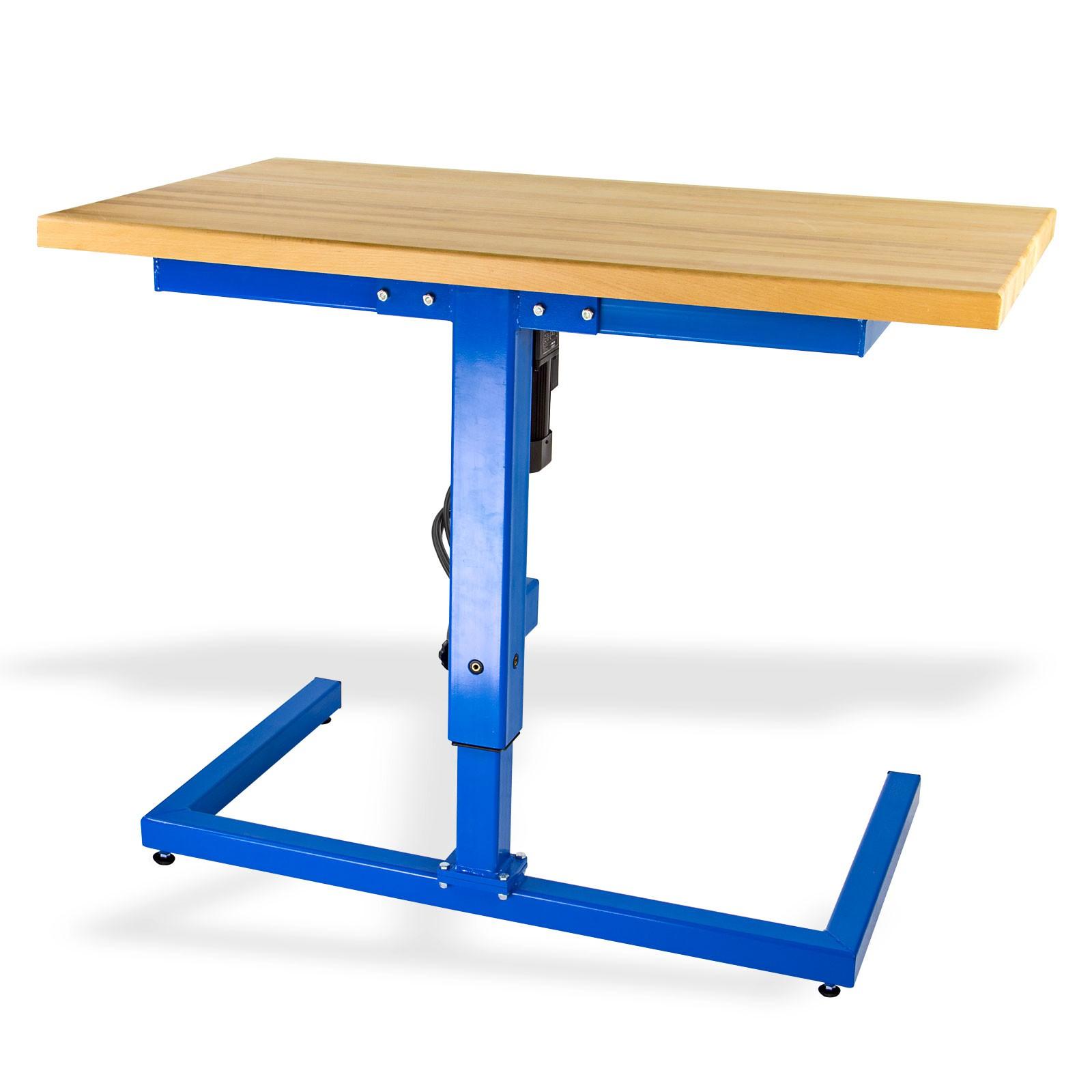Werkbank 120x68 cm blau E-Antrieb