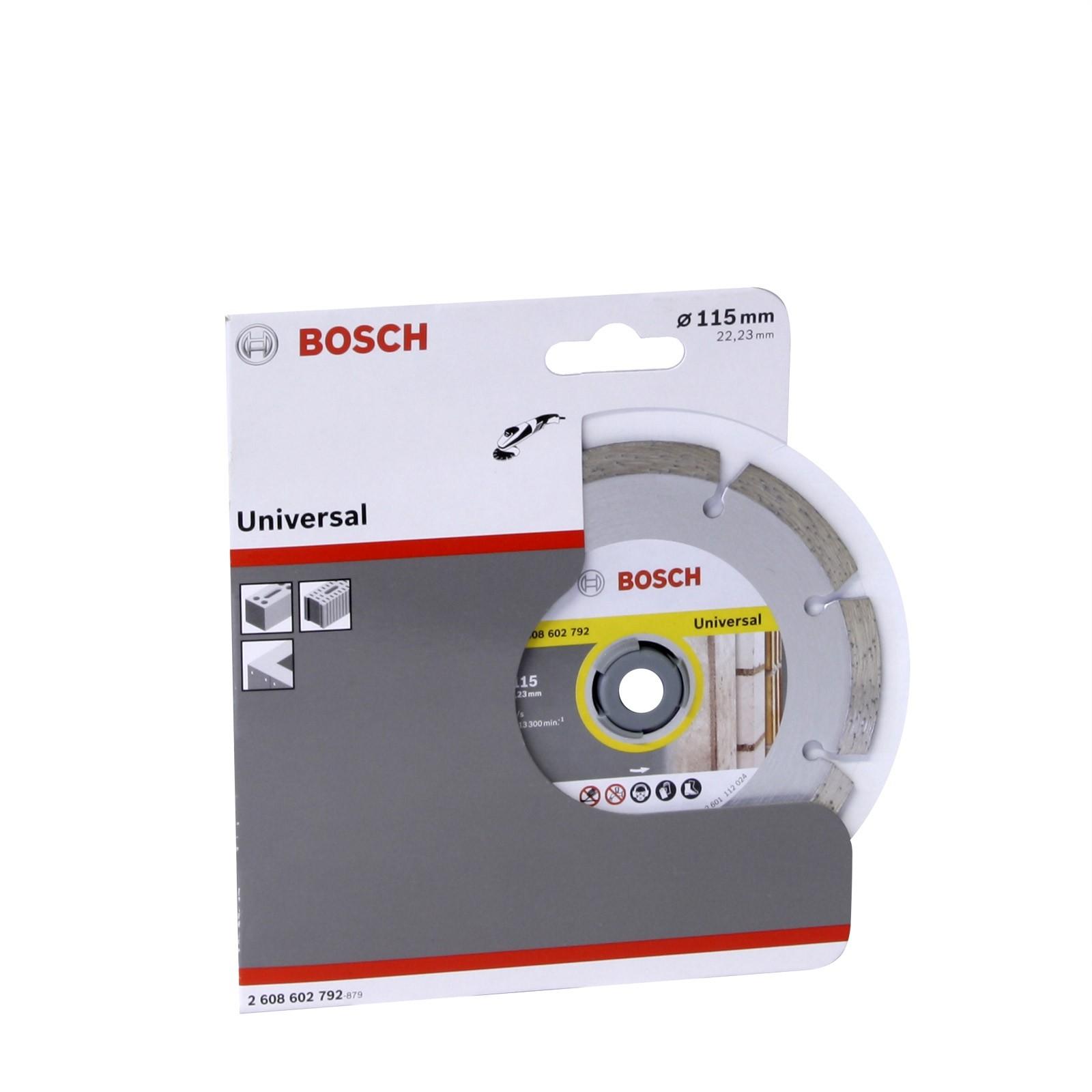 Bosch Diamanttrennscheibe Universal für Winkelschleifer 115 x 22, 23mm 12017