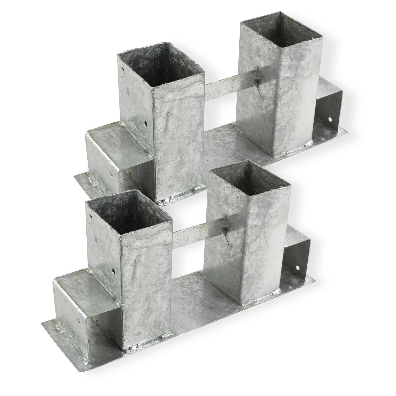 Dema Kaminholzregal Kaminholzständer Brennholzregal Brennholz Stapelhilfe 4er-Set 47061x2