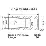 Konus Einschweißrohr 120x55 - ø 43/32