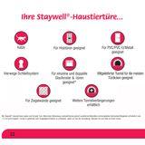 PetSafe Katzenklappe mit 4 Verschlussoptionen Staywell® Deluxe silber